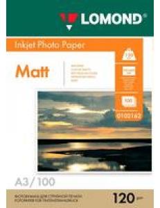 Фотобумага (120г/м2, А3,100л.) матовая 1стор. LOMOND 0102162