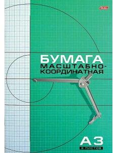 """Бумага миллиметровая А3  8л. на скрепке """"Хатбер"""" 086858"""