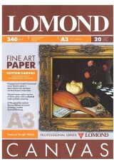 Фотобумага (340г, А3, 20л.) Холст Ярко-белый хлопковый универсальный LOMOND 0908332