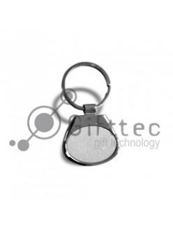 Брелок для ключей, горизонтальный, овальный.(металл) 10050