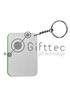Брелок для ключей пластиковый Прямоугольник СВЕТЛО-ЗЕЛЁНЫЙ 48х68 мм 10220