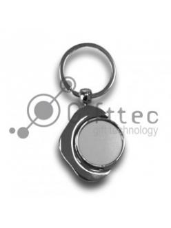 Брелок для ключей металлический КРУГЛЫЙ вращающийся 10232