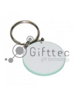 Брелок для ключей пластиковый Круг СВЕТЛО-ЗЕЛЁНЫЙ d=43мм 10263