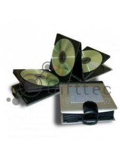 Алюминиевый бокс для CD\DVD дисков прямоугольный. Вместительность 10 дисков.