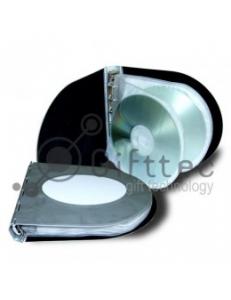 Алюминиевый бокс для CD\DVD дисков овальный.  Вместительность 12 дисков. 10310