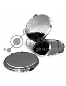 Зеркальце металлич. овальное серебр.72х63 10314