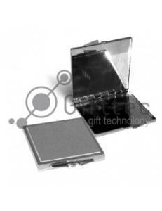 Зеркальце металлич. квадратное серебр.55х55 10315