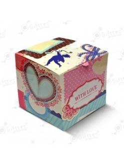 """Коробка подарочная для кружки без окна """"С любовью"""" 10387"""