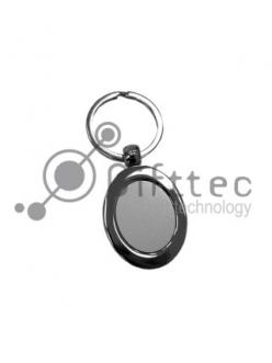 Брелок для ключей, вертикальный овал.(металл)-009 10420