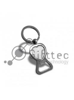 Брелок для ключей, в виде сердца с ОТКРЫВАШКОЙ (металл)-062 10438