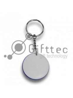 Брелок для ключей пластиковый Круг ЧЁРНЫЙ d=43мм 10454