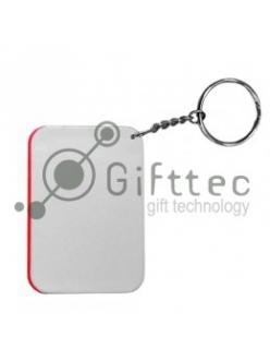 Брелок для ключей пластиковый Прямоугольник КРАСНЫЙ 48х68мм 10455