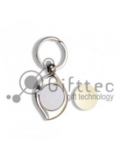 Брелок для ключей металлический ЛЕПЕСТОК (A47) 10460