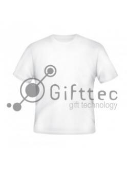 Футболка мужская белая Comfort (FutbiTex), синтетика/хлопок (имитация хлопка) р.50 (L) для сублимации 10515