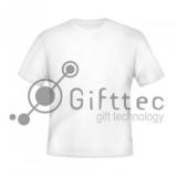Футболка мужская белая Comfort (FutbiTex), синтетика/хлопок (имитация хлопка) р.52 (XL) для сублимации 10516