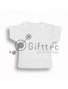 Мини-футболка сувенирная БЕЛАЯ, ложная сетка 10598