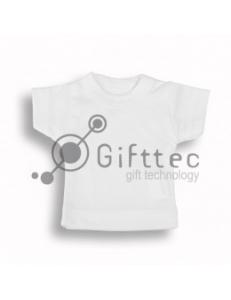 Мини-футболка сувенирная БЕЛАЯ, синтетика (прима) 10682