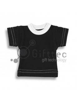 Мини-футболка сувенирная ЧЁРНАЯ, хлопок 10683
