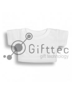 Мини-футболка на мягкую игрушку БЕЛАЯ, синтетика (ложная сетка) 10684