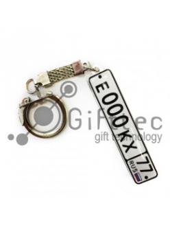 Брелок для ключей ГОСНОМЕР с прозрачной линзой (комплект для изготовления брелока) упаковка 10шт 10700