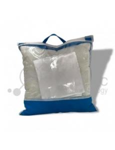 Подушка с наволочкой 33x33см БЕЛАЯ в индивидуальной упаковке 10733