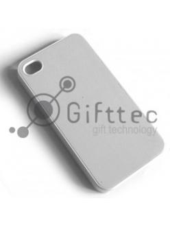 IPhone 4/4S - Белый чехол пластиковый (вставка под сублимацию) 10829