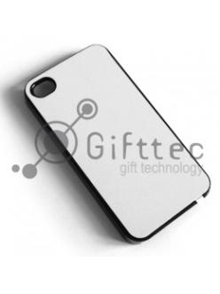 IPhone 4/4S - Черный чехол пластиковый (вставка под сублимацию) 10831