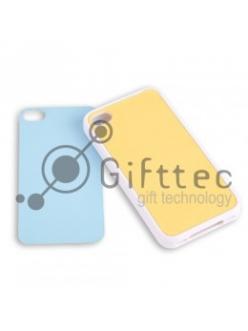 IPhone 4/4S - Белый силиконовый чехол (вставка под сублимацию) 10832