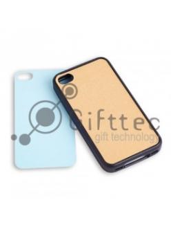 IPhone 4/4S - Черный силиконовый чехол (вставка под сублимацию) 10833