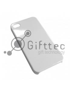 IPhone 4/4S - Белый чехол глянцевый пластик (для 3D-машины вакуумной) 10910