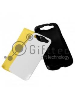 Samsung Galaxy S3 i9300 - Черный чехол пластиковый (вставка под сублимацию) 10914