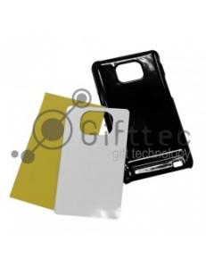 Samsung Galaxy S2 i9100 - Черный чехол пластиковый (вставка под сублимацию) 10916