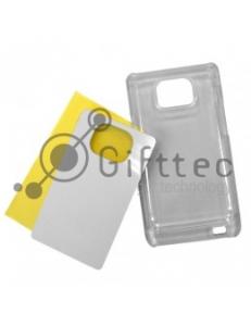 Samsung Galaxy S2 i9100 - Прозрачный чехол пластиковый (вставка под сублимацию) 10917