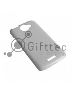 HTC One X/One Х+ - Белый чехол глянцевый пластик (для 3D-машины вакуумной) 10935