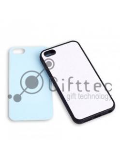 IPhone 5/5S - Черный силиконовый чехол (вставка под сублимацию) 10953