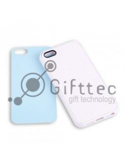 IPhone 5/5S - Белый силиконовый чехол (вставка под сублимацию) 10954