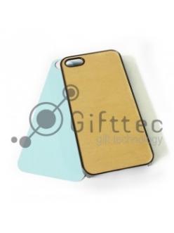 IPhone 5/5S - Черный чехол пластиковый (вставка под сублимацию) 10959