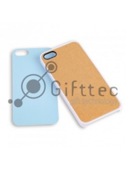 IPhone 5/5S - Белый чехол пластиковый (вставка под сублимацию) 10960