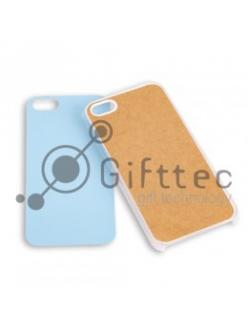 IPhone 5/5S - Прозрачный чехол пластиковый (вставка под сублимацию) 10961