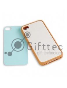 IPhone 4/4S - Cветло-коричневый силиконовый чехол (вставка под сублимацию) 10969