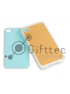 IPhone 4/4S - Прозрачный силиконовый чехол (вставка под сублимацию) 10970