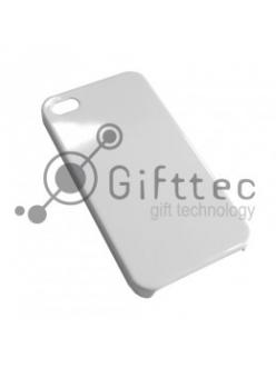 IPhone 4/4S - Белый чехол матовый пластик (для 3D-машины вакуумной) 10973
