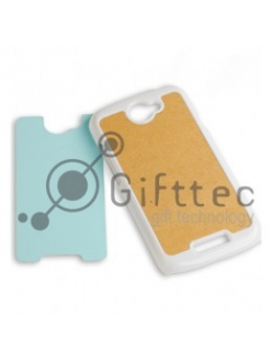 HTC One S - Белый чехол пластиковый (вставка под сублимацию) 10979