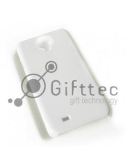 Samsung Galaxy S4 i9500 - Белый чехол глянцевый пластик (для 3D-машины вакуумной) 10989