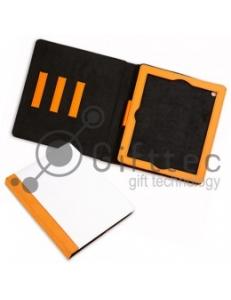 IPad 2/3/4  - Оранжевый чехол из искусственной кожи (зона под нанесение) 10991