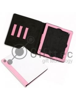 IPad 2/3/4 - Розовый чехол из искусственной кожи (зона под нанесение) 10992