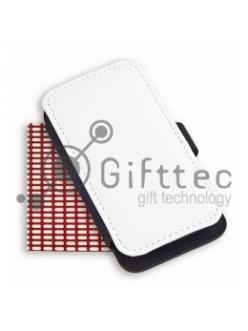 IPhone 4/4S - Чёрный чехол-книжка из искусственной кожи (влево-вправо) с зоной под нанесение 10995
