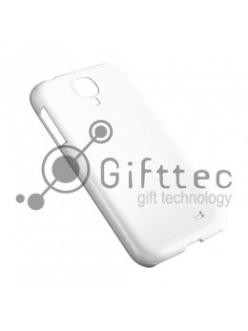Samsung Galaxy S4 mini - Белый чехол глянцевый пластик (для 3D-машины вакуумной) 11062