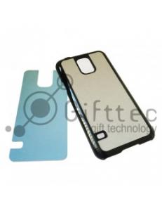 Samsung Galaxy S5 - Черный чехол пластиковый (вставка под сублимацию) 11095