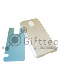 Samsung Galaxy S5 - Белый чехол пластиковый (вставка под сублимацию) 11096